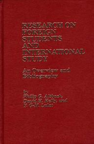 Bibliography of Foreign Students and International Study cover image