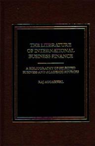 The Literature of International Business Finance cover image