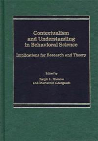 Contextualism and Understanding in Behavioral Science cover image