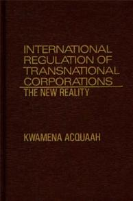 International Regulation of Transnational Corporations cover image