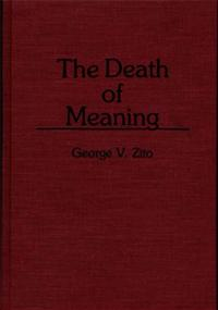 The Death of Meaning cover image