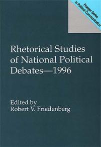 Rhetorical Studies of National Political Debates--1996 cover image