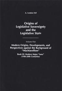 Origins of Legislative Sovereignty and the Legislative State cover image