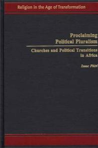 Proclaiming Political Pluralism cover image