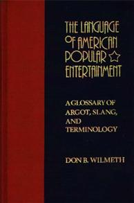The Language of American Popular Entertainment cover image