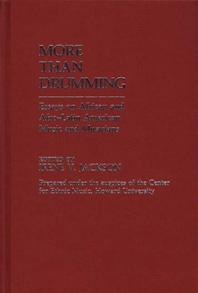More Than Drumming cover image