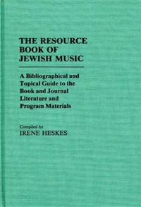 The Resource Book of Jewish Music cover image