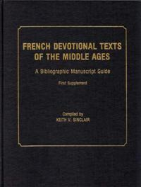 French Devotional Texts of the Middle Ages, First Supplement cover image