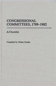 Congressional Committees, 1789-1982 cover image