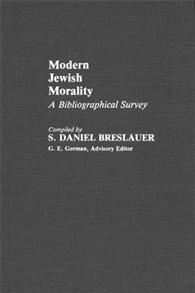 Modern Jewish Morality cover image