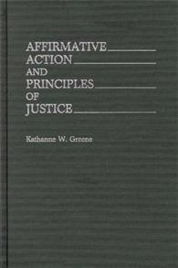 Affirmative Action and Principles of Justice cover image