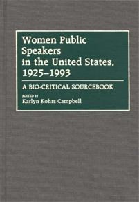 Women Public Speakers in the United States, 1925-1993 cover image