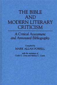 The Bible and Modern Literary Criticism cover image