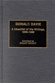 Donald Davie cover image
