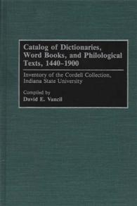 Catalog of Dictionaries, Word Books, and Philological Texts, 1440-1900 cover image