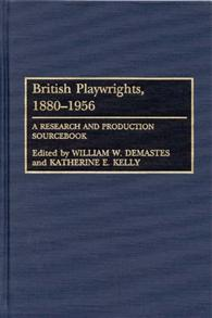 British Playwrights, 1880-1956 cover image