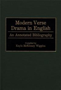 Modern Verse Drama in English cover image