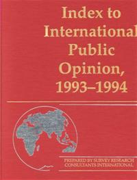 Index to International Public Opinion, 1993-1994 cover image