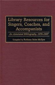 Library Resources for Singers, Coaches, and Accompanists cover image