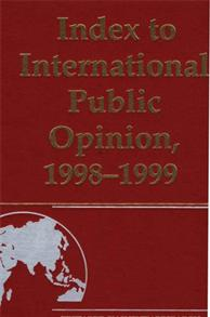 Index to International Public Opinion, 1998-1999 cover image