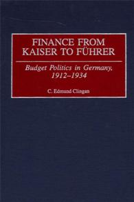 Finance from Kaiser to Fuhrer cover image