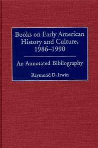 Books on Early American History and Culture, 1986-1990 cover image