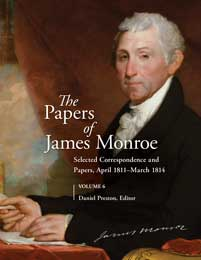 Cover image for The Papers of James Monroe, Volume 6