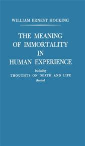 The Meaning of Immortality in Human Experience cover image