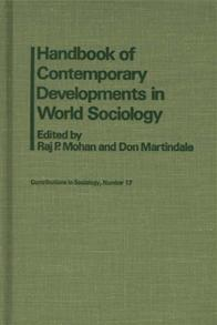 Handbook of Contemporary Developments in World Sociology cover image