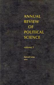 Annual Review of Political Science, Volume 1 cover image