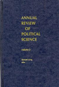 Annual Review of Political Science, Volume 2 cover image