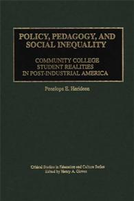 Policy, Pedagogy, and Social Inequality cover image