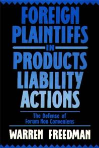 Foreign Plaintiffs in Products Liability Actions cover image
