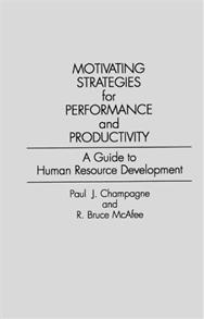 Motivating Strategies for Performance and Productivity cover image