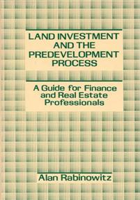 Land Investment and the Predevelopment Process cover image