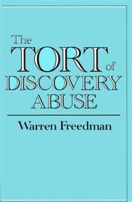 The Tort of Discovery Abuse cover image