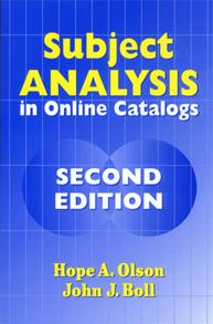 Subject Analysis in Online Catalogs, 2nd Edition cover image