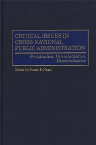 Critical Issues in Cross-National Public Administration cover image