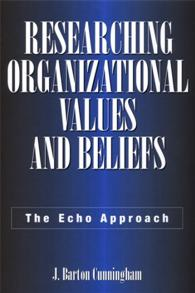 Researching Organizational Values and Beliefs cover image