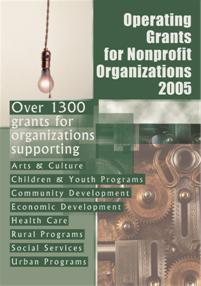 Operating Grants for Nonprofit Organizations 2005 cover image