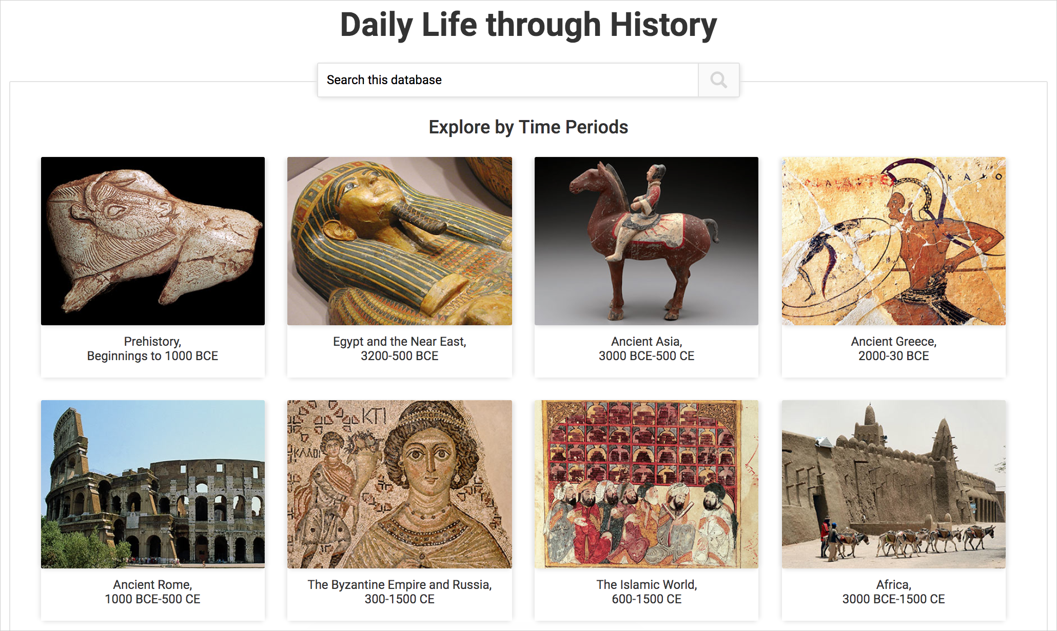 Daily Life through History cover image