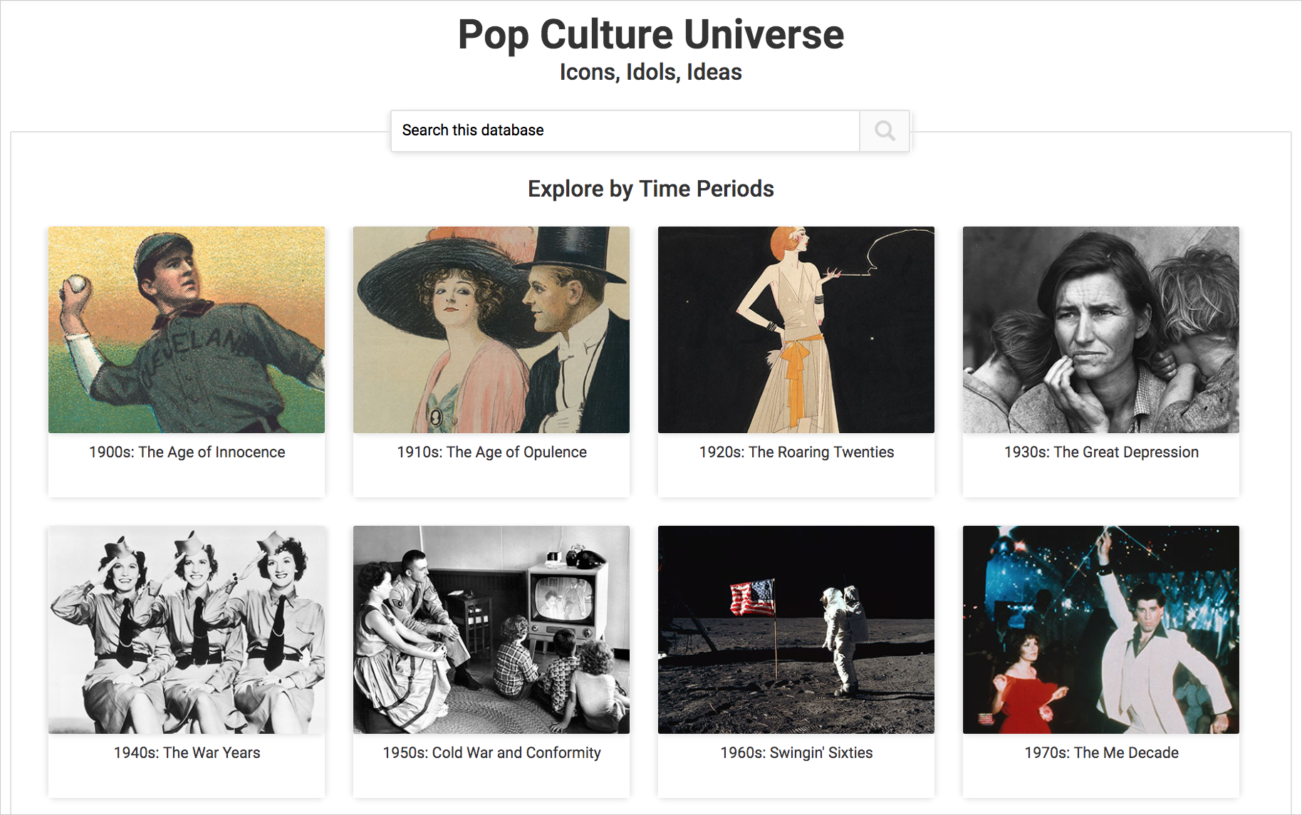 Cover image for Pop Culture Universe