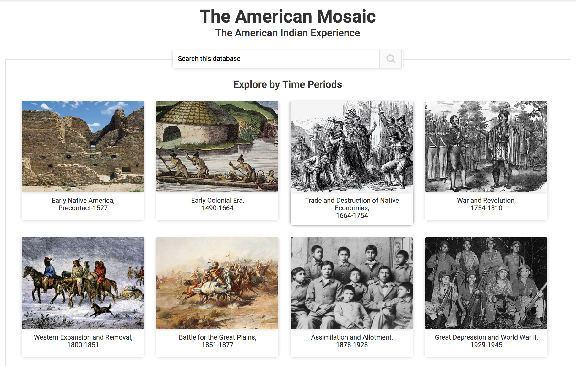 The American Indian Experience: The American Mosaic - ABC