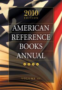 American Reference Books Annual 2010 cover image