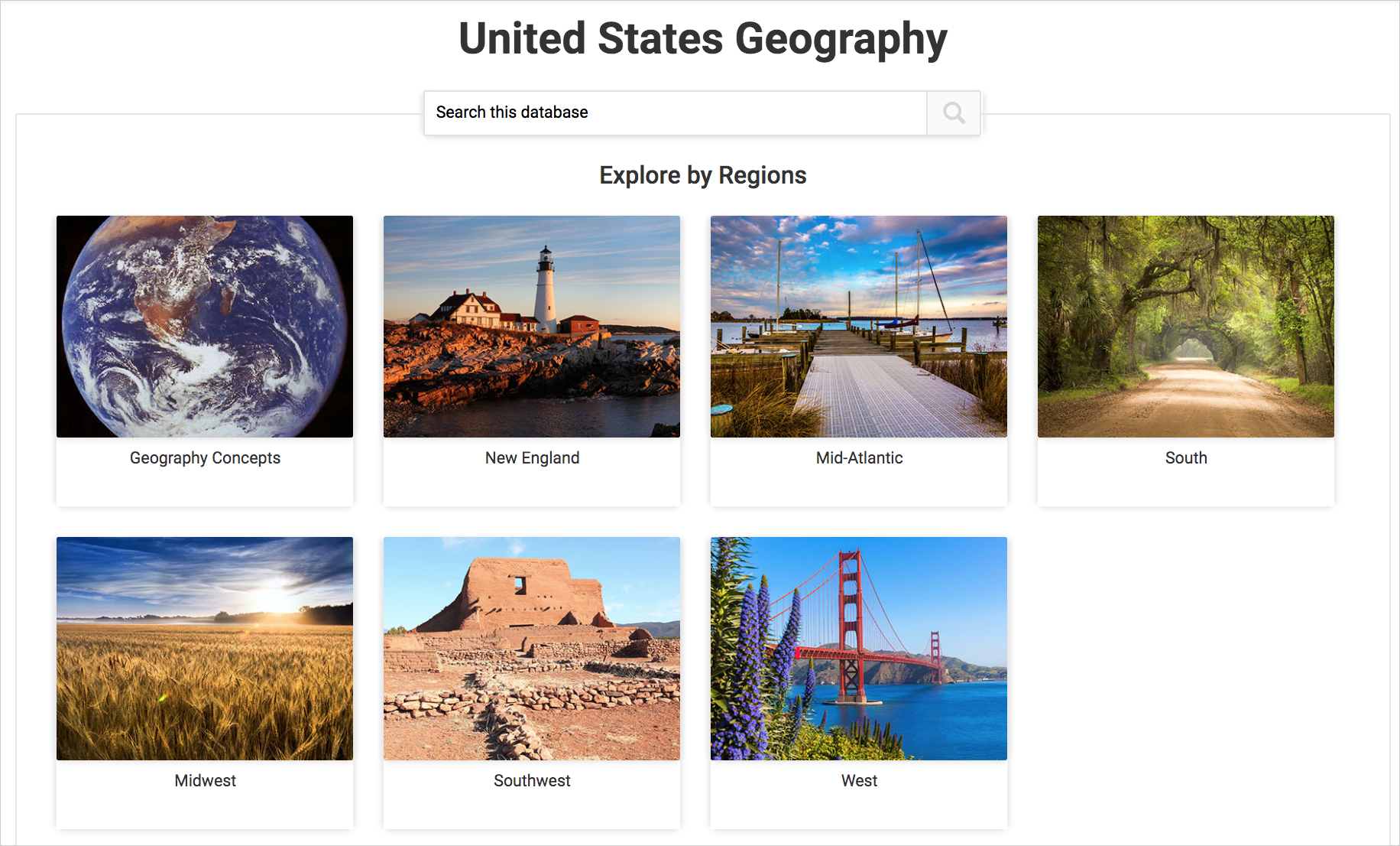 Cover image for United States Geography