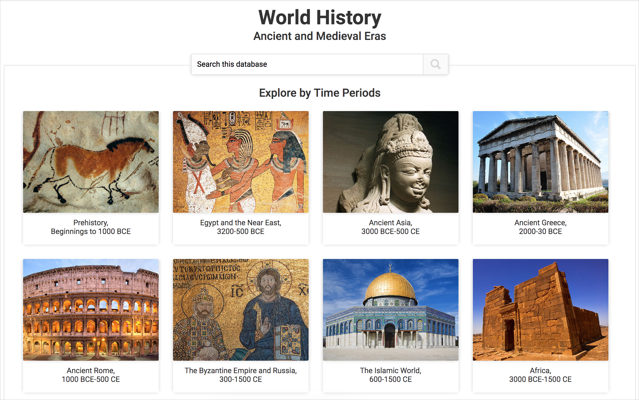 World History: Ancient and Medieval Eras - ABC-CLIO