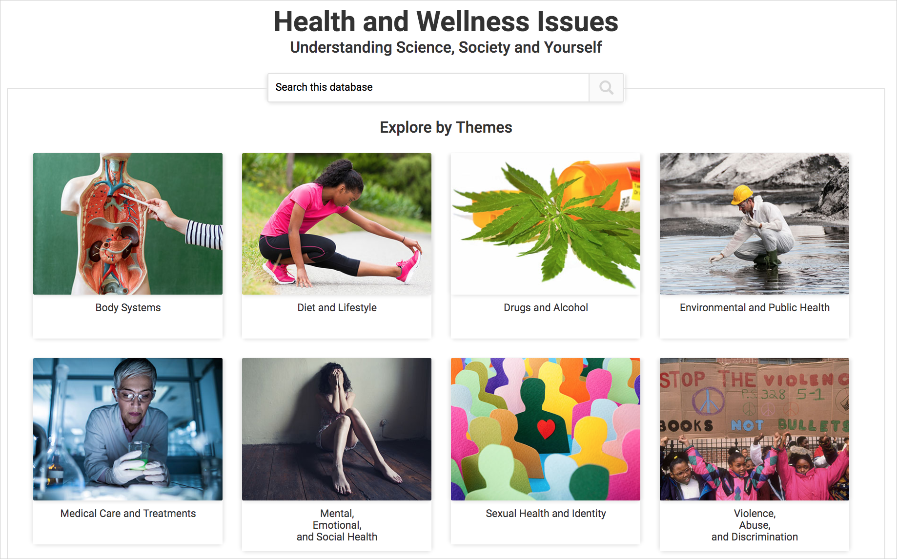 Health and Wellness Issues: Understanding Science, Society