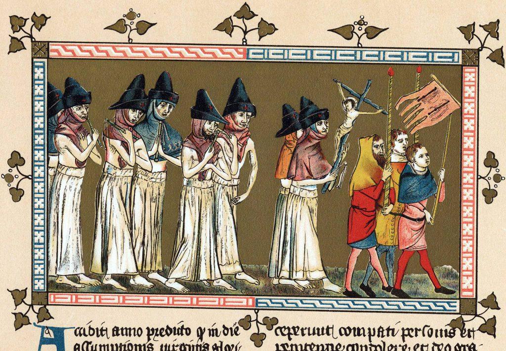 Flagellants in Tournai, illustration