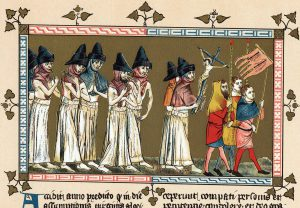 Flagellants in Tournai, illustration