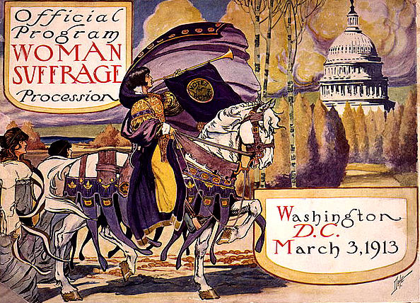Official program of the Woman Suffrage Procession, March 3, 1913